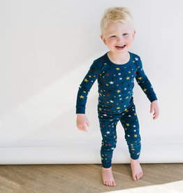 Petit Bateau Navy Multi Stars Long Johns