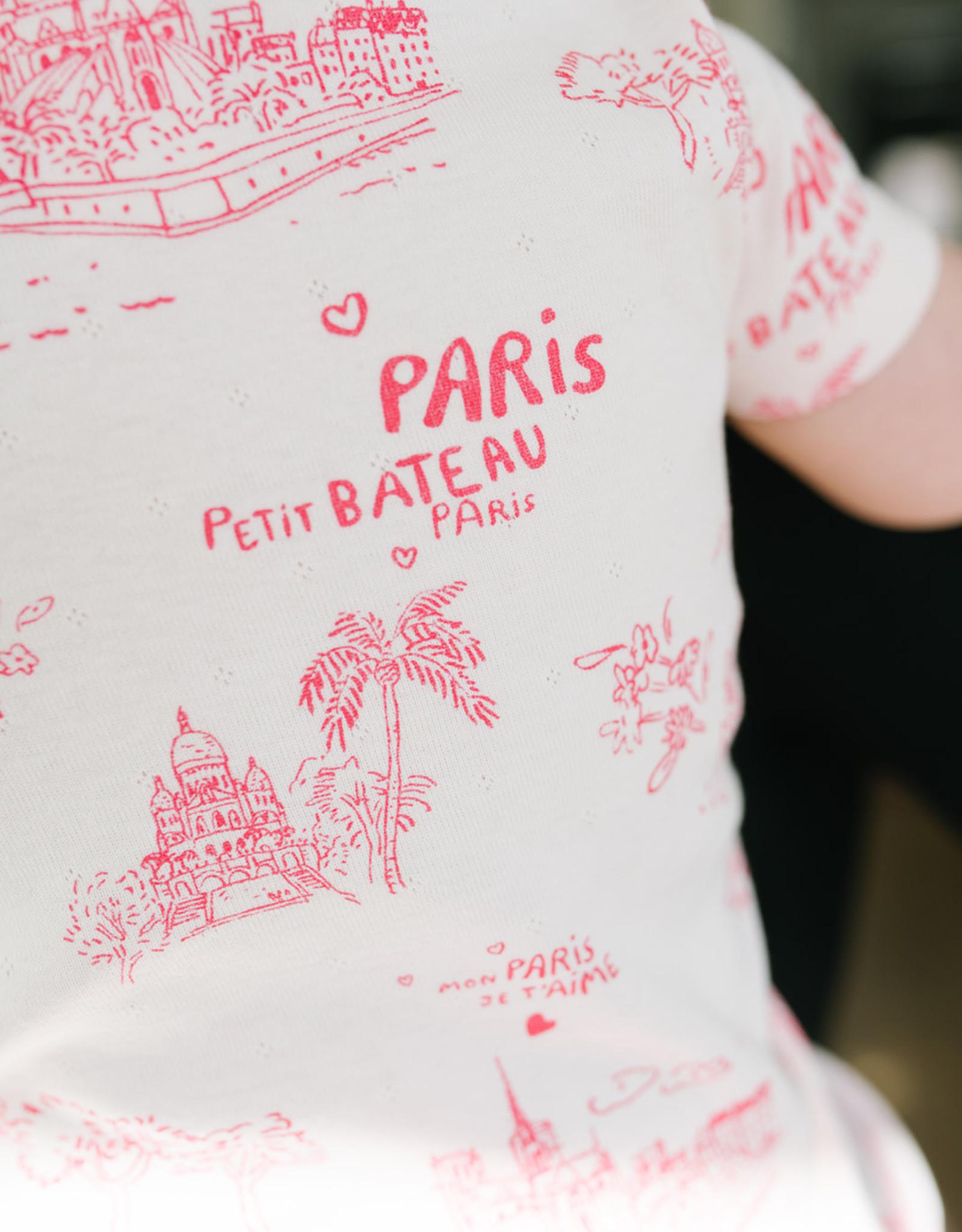 Petit Bateau Pink Parisian Short Loungewear Set