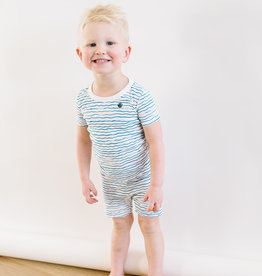 Petit Bateau Blue Waves print Lounge Short-Set