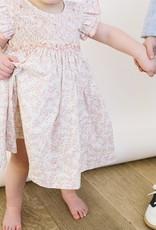 Luli Infant Soft Coral Print Smocked  Dress