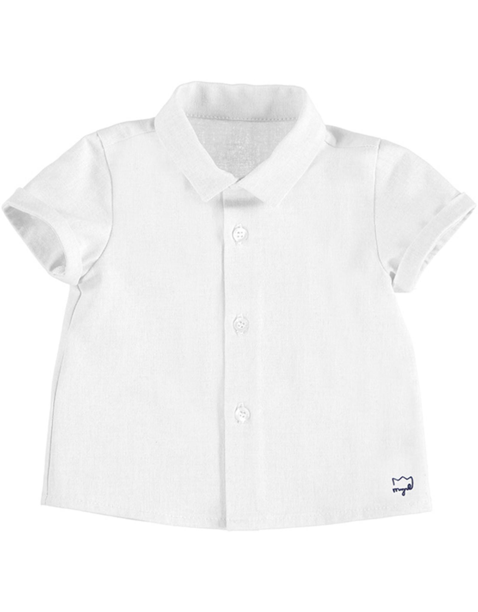 Mayoral S/S White Infant Shirt