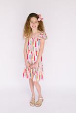Dress Bright Multi Chevron Print