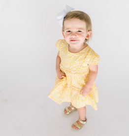 Mayoral Dress Yellow Print Tiered