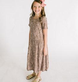 Creamie Dress Rose Leopard Print S/S