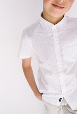 Mayoral S/S White Shirt Micro Dot