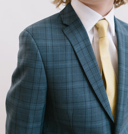 Michael Kors Suit Dark Blue Light Blue Plaid