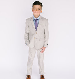 Leo and Zachary Suit Sand Glenn Plaid 872