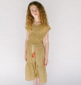 Like Flo Dress Leaopard Print Smocked Maxi 5814