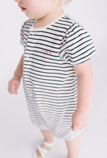 Petit Bateau Girls Navy Stripe Romper 59720