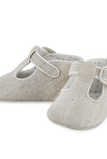 Mayoral Baby Shoe Khaki linen T-Strap