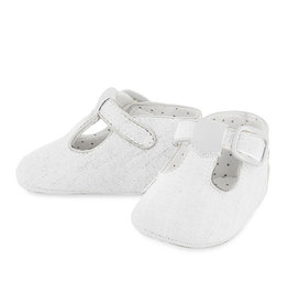 Mayoral Baby Shoe White T-strap