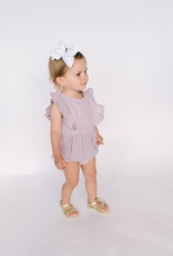 City Mouse Infant Muslin Lilac Flutter Romper 015