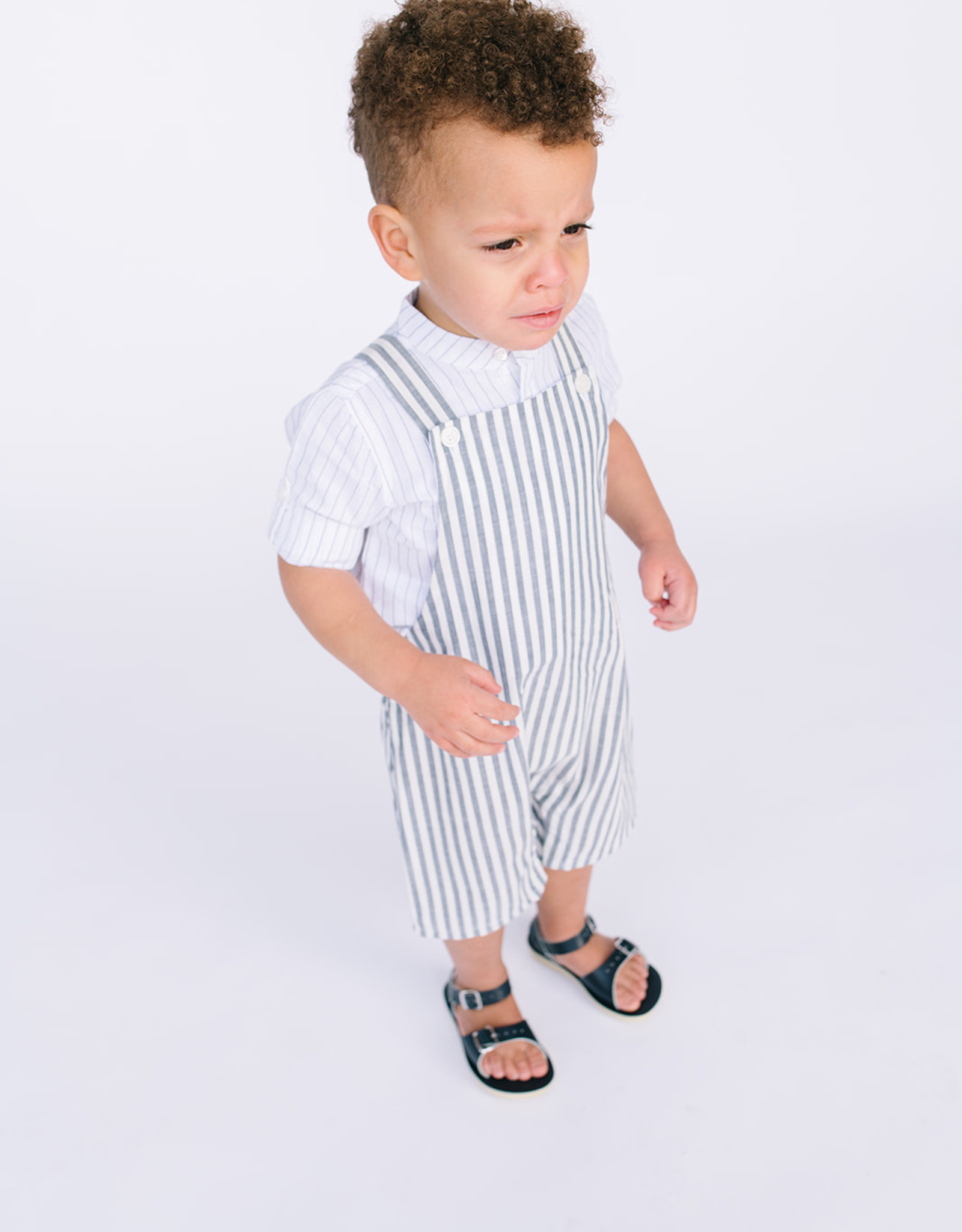 Sophie and Lucas Overall Navy Stripe 3049