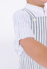 Sophie and Lucas Overall Navy Stripe