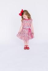 Dress Fushcia Confetti  Modal print dress