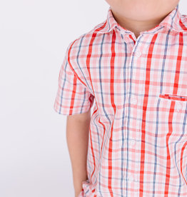 Mayoral Boys Shirt Red Plaid S/S