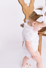Mayoral Onesie White  Ruffle collar with Fagoting