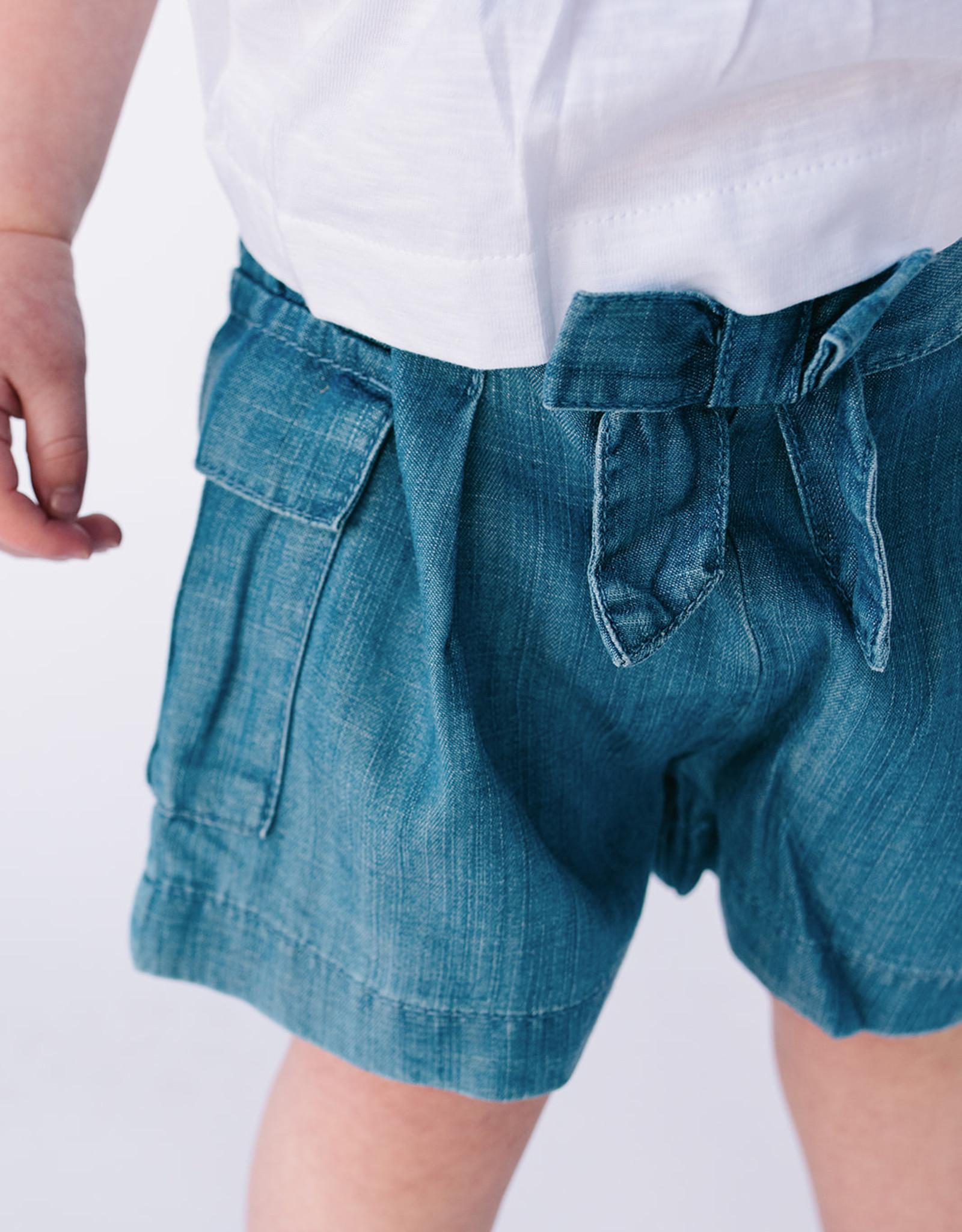 Mayoral Short Soft Tencel Denim With Cargo Pocket