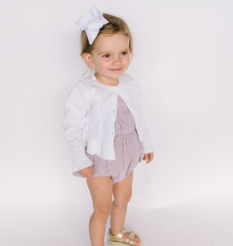 Mayoral Infant Cardigan White Pointelle Ruffle