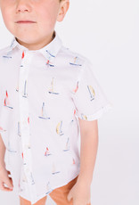 Mayoral S/S Shirt White  Sailboat Print