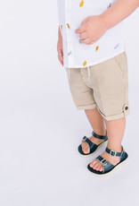 Mayoral Infant Short Tan Linen Rollup Tab