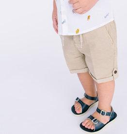 Mayoral Infant Short Tan Linen