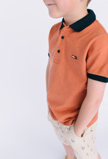 Mayoral Pique Polo Clay with Navy Trim