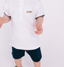 Mayoral White Band Collar Polo