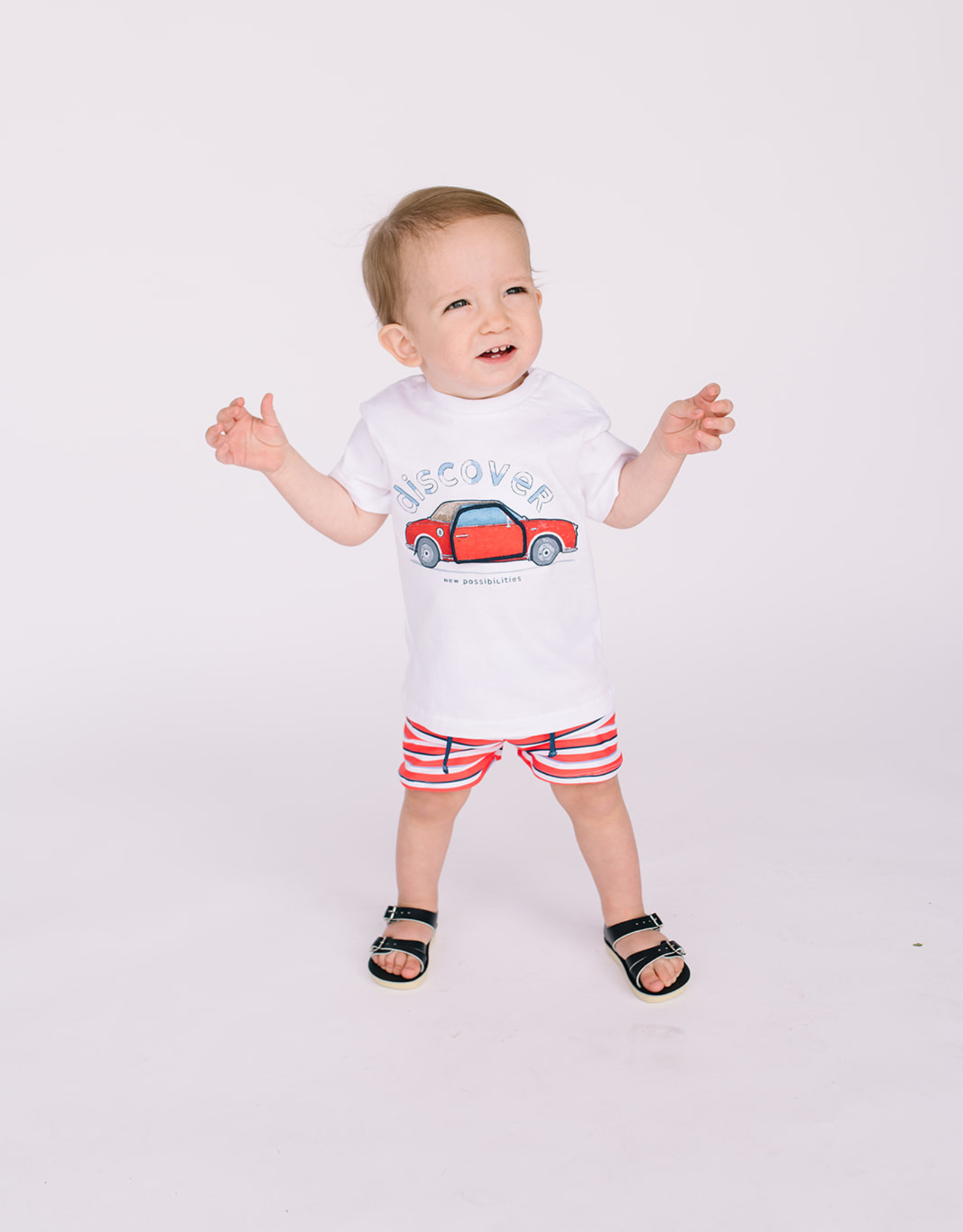 Mayoral Infant Boys Tee White with Red Car
