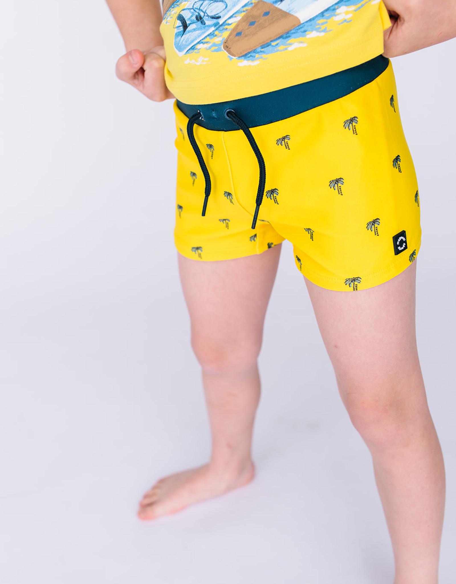 Mayoral Boys Yellow Palm Tree Euro Style Swimsuit