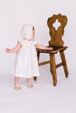 Luli Dress Bishop smocked and bonnet Yellow print