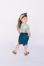 Mayoral Denim Skort with Tie Belt