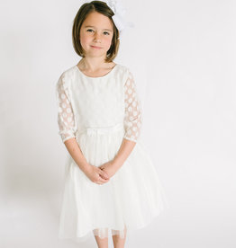 Sweet Kids Mesh Polkadot and Tulle Dress 8-10