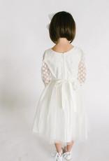 Sweet Kids Mesh Polkadot and Tulle Dress