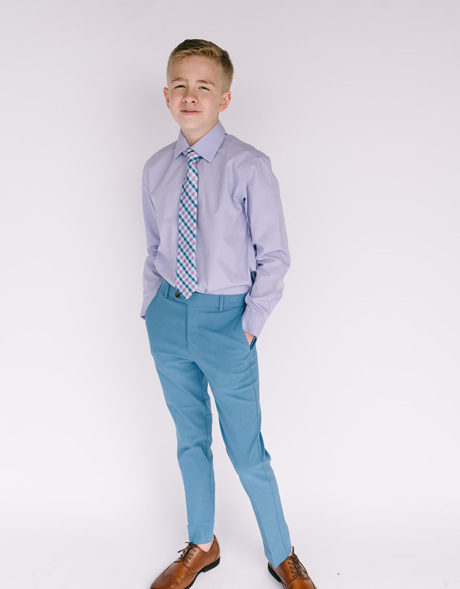 Andrew Marc Shirt lavender broadcloth