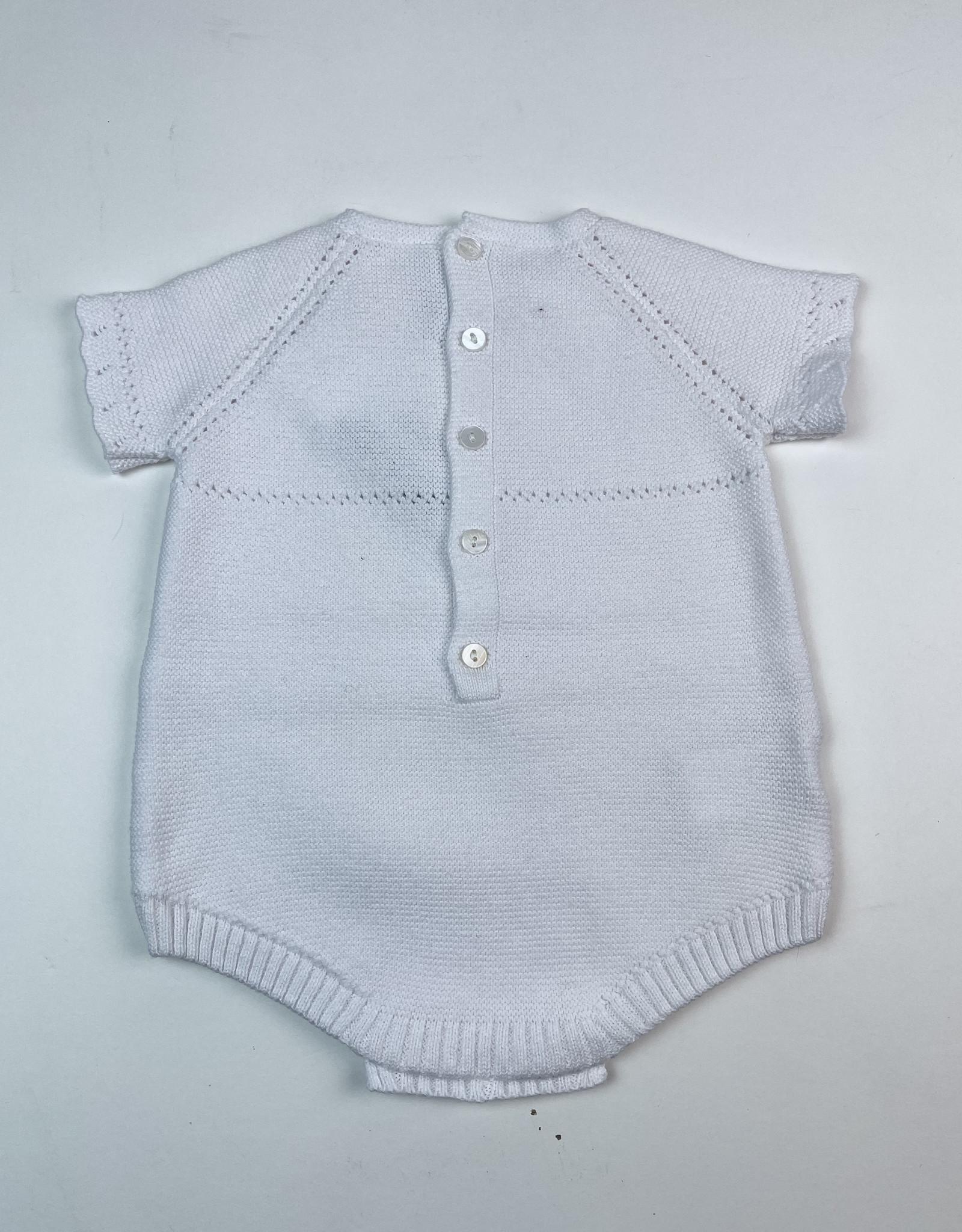 Martin Aranda Knitted Short Romper White  S/S 10044