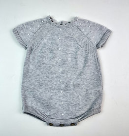 Martin Aranda Knitted Romper Grey with Cream  Dots