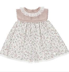 Martin Aranda Dress Rose knit top Pink floral skirt