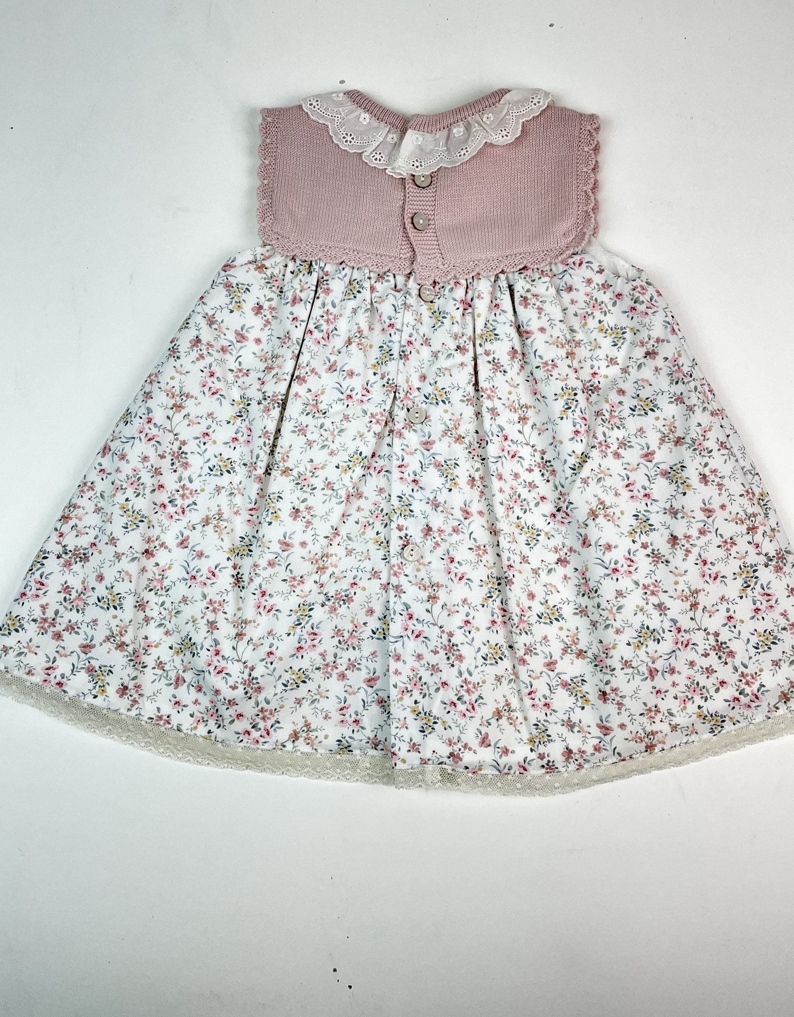 Martin Aranda Dress Rose knit top Pink floral skirt