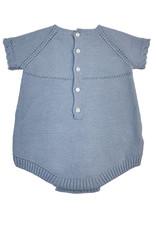 Martin Aranda Knitted Short Romper Steel Blue  S/S