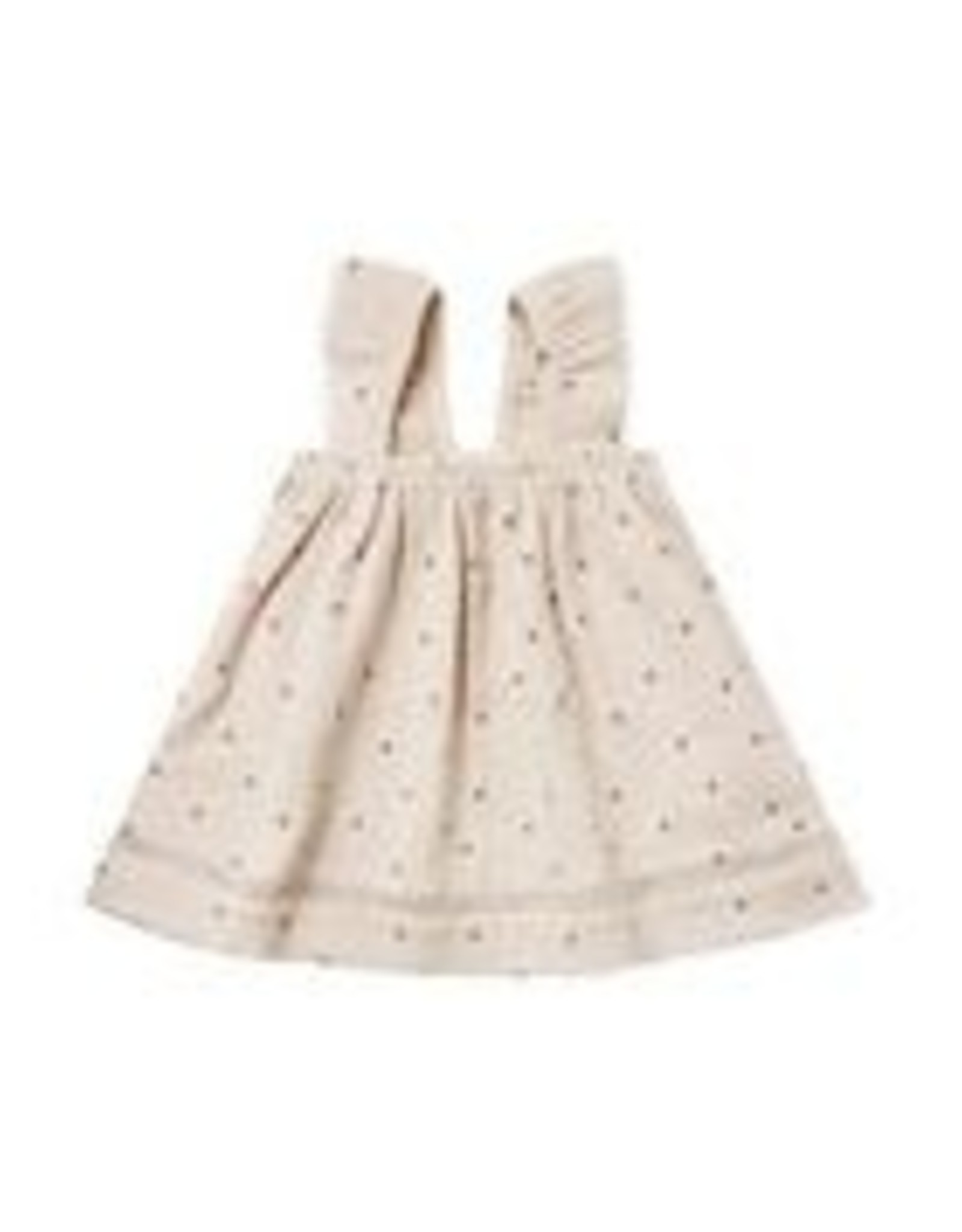 Quincy Mae Infant Dress Ivory Gauze with Stars