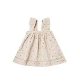 Quincy Mae Dress Ivory Gauze with Stars