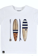 Mayoral White Tee with Vintage Surfboards