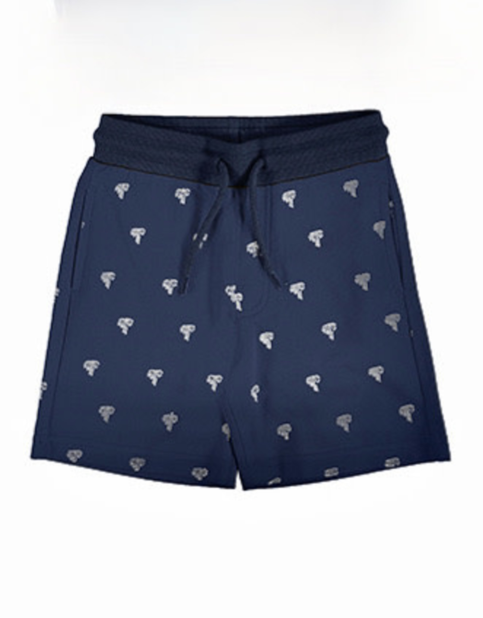 Mayoral Navy Knit Short with Palm trees