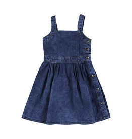 Mayoral Denim Sundress  with Side Buttons