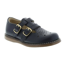Footmates Navy Classic Double Buckle