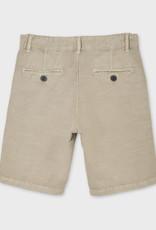 Mayoral Short Khaki Trouser Pocket Linen