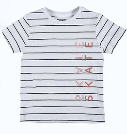 Mayoral Tee Navy Stripe Salmon Skate Screen