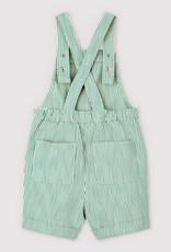 Petit Bateau Green stripe Overall 59601