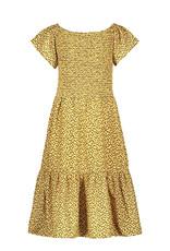 Like Flo Dress Leopard Print Smocked Maxi 5814
